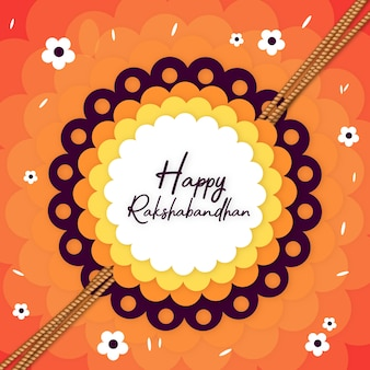 Kleurrijke gelukkige rakshabandhan-achtergrondaffiche