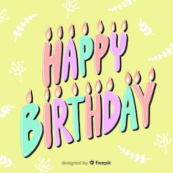 Kleurrijke gelukkige verjaardag belettering achtergrond