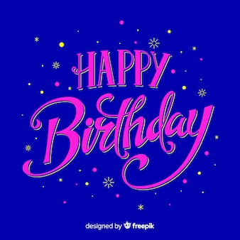 Kleurrijke gelukkige verjaardag belettering
