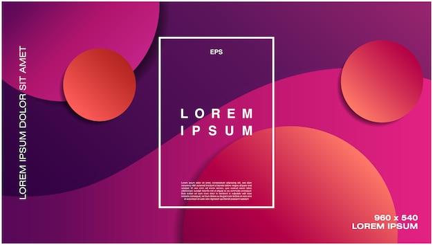 Kleurrijke geometrische achtergrond met cirkelvormen