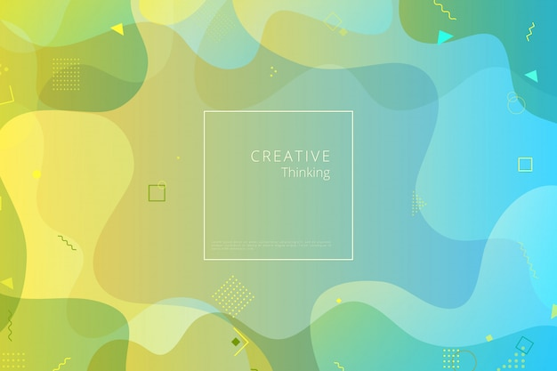 Kleurrijke geometrische achtergrond. samenstelling van vloeibare vormen