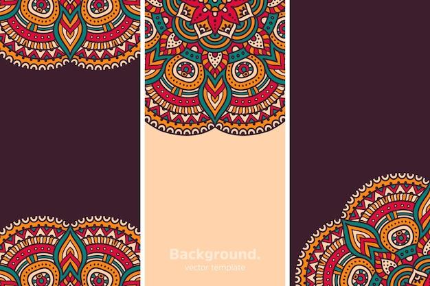Kleurrijke geometrische bloemenachtergrond