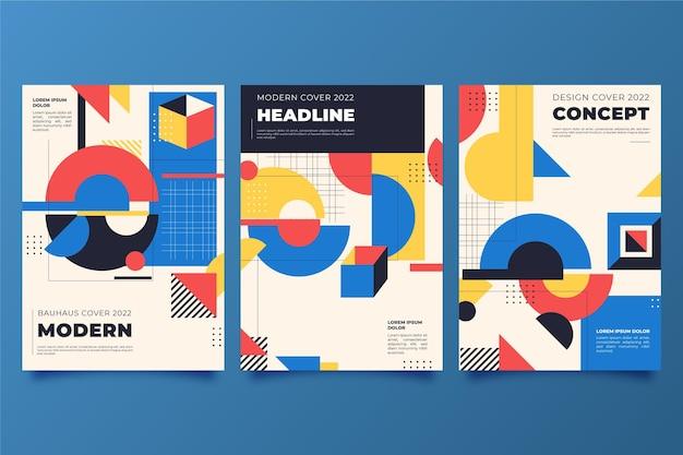 Kleurrijke geometrische covers met abstracte vormen