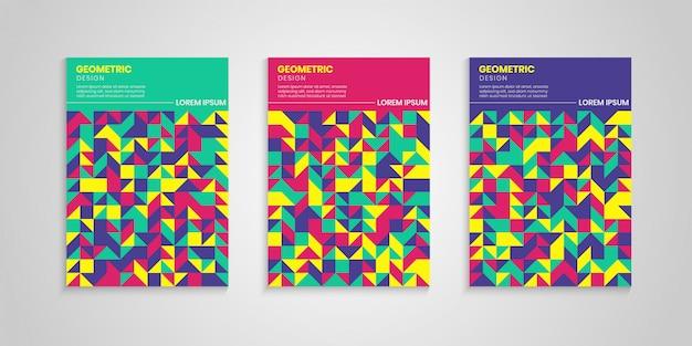 Kleurrijke geometrische covers set