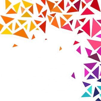 Kleurrijke geometrische driehoeken versierde abstracte achtergrond met ruimte voor uw tekst.