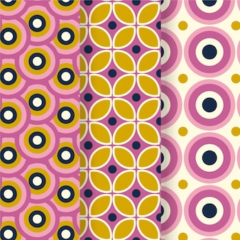 Kleurrijke geometrische hip patrooninzameling