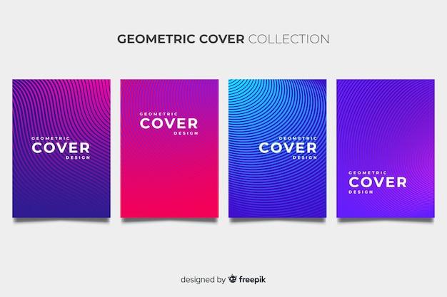 Kleurrijke geometrische lijnen brochure pack