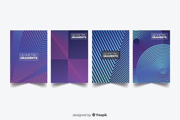 Kleurrijke geometrische lijnen dekken collectie