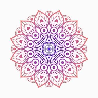 Kleurrijke geometrische mandala-achtergrond