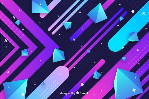 Kleurrijke geometrische modellenachtergrond met gradiënt