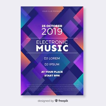 Kleurrijke geometrische muziekaffiche