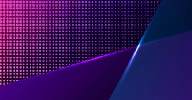 Kleurrijke geometrische neon achtergrond. glas vormt de compositie.