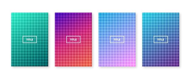 Kleurrijke geometrische omslagset.