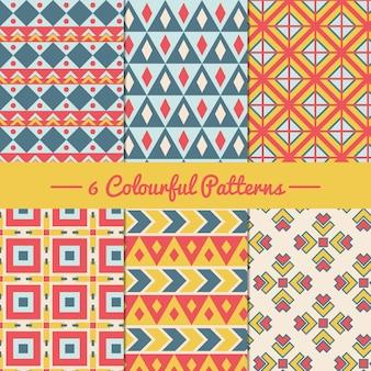 Kleurrijke geometrische patronen