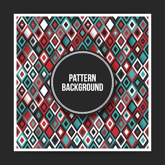 Kleurrijke geometrische patroon achtergrond met abstracte elementen. handig voor covers, posters en websites.