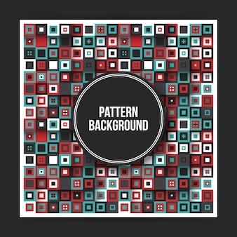 Kleurrijke geometrische patroonachtergrond met abstracte elementen. handig voor covers, posters en websites.