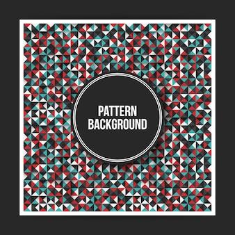 Kleurrijke geometrische patroonachtergrond met abstracte elementen. handig voor covers, posters, websites.