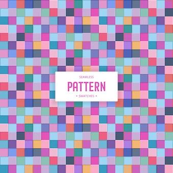 Kleurrijke geometrische vierkant naadloze patroon achtergrond