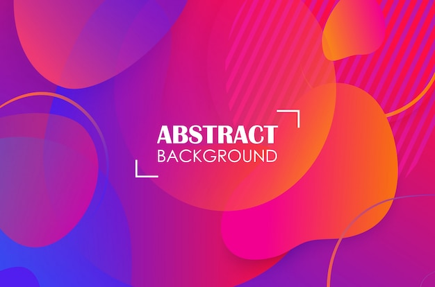 Kleurrijke geometrische vloeibare vormen abstracte achtergrond