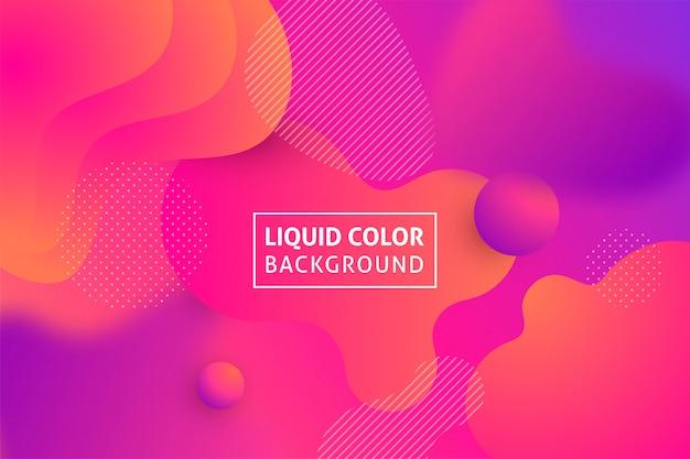 Kleurrijke geometrische vloeibare vormen achtergrond.