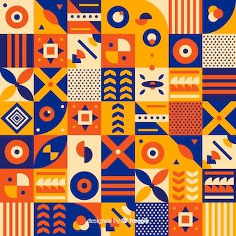 Kleurrijke geometrische vorm mozaïek achtergrond