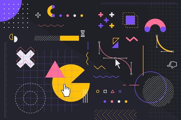 Kleurrijke geometrische vormen achtergrond