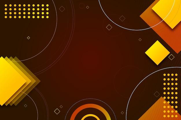 Kleurrijke geometrische vormen op donkere achtergrond