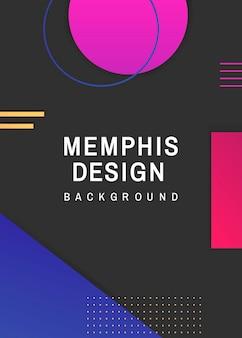 Kleurrijke geometrische zwarte memphis achtergrond vector