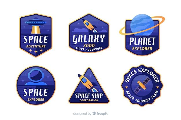 Kleurrijke geplaatste ruimtestickers