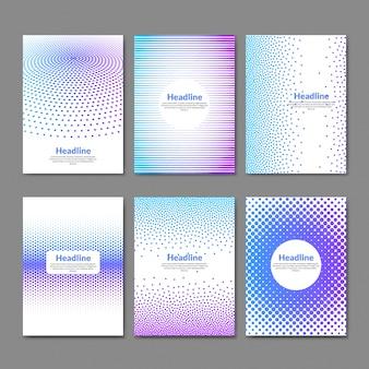 Kleurrijke gestippelde sjabloon folder