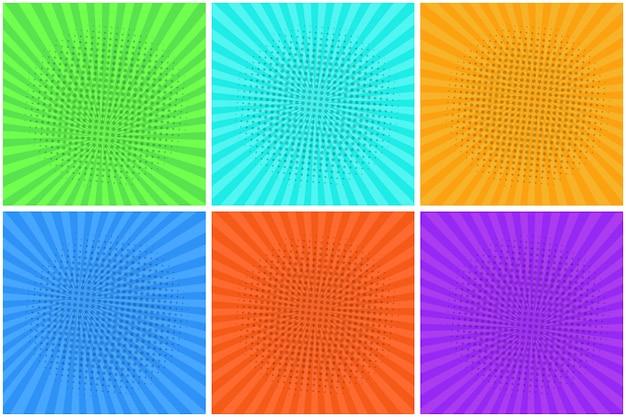 Kleurrijke gestreepte achtergronden voor tekstballonnen