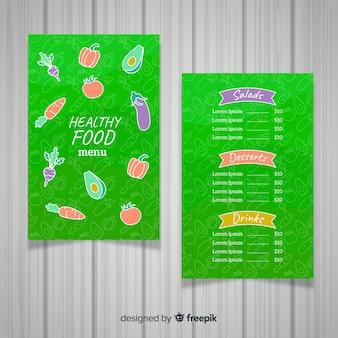 Kleurrijke gezonde menusjabloon