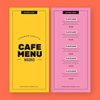 Kleurrijke gezonde voeding restaurant menu