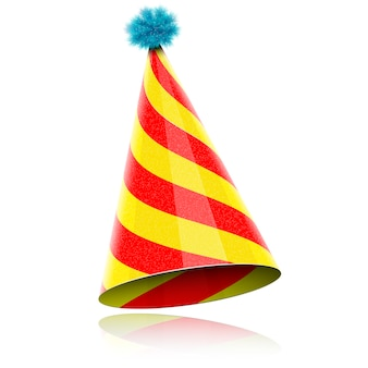 Kleurrijke glanzende hoed voor feest