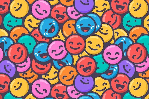 Kleurrijke glimlach emoticons patroon