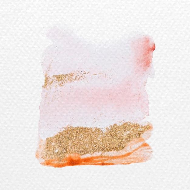Kleurrijke glinsterende aquarel penseelstreken vector