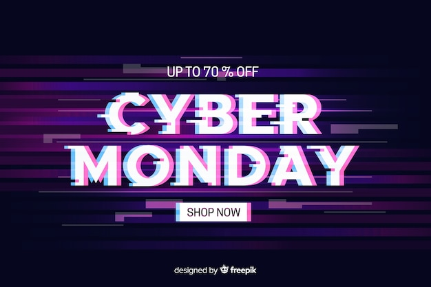 Kleurrijke glitch cyber maandag