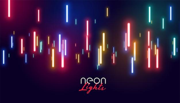 Kleurrijke gloeiende neonlichtenachtergrond