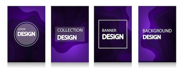 Kleurrijke golf en vloeiende vormen violette achtergrond