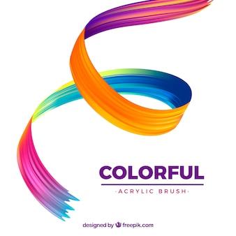 Kleurrijke golvende acrylachtergrond