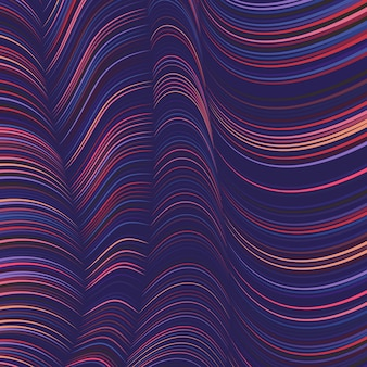 Kleurrijke golvende lijnenachtergrond