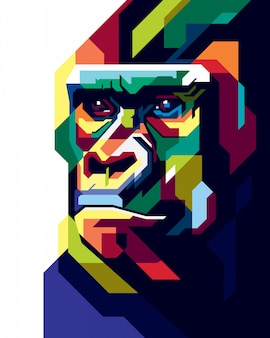 Kleurrijke gorilla