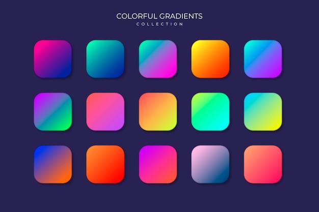Kleurrijke gradient-collectie Gratis Vector