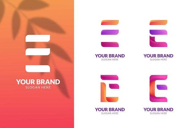 Kleurrijke gradiënt e logo-collectie