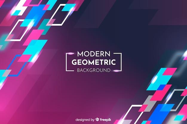 Kleurrijke gradiënt geometrische vormen achtergrond