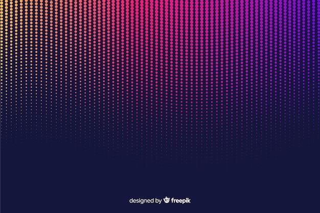 Kleurrijke gradiënt halftone effect achtergrond