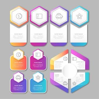 Kleurrijke gradiënt infographic elementen