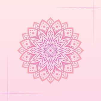 Kleurrijke gradiënt mandala achtergrond
