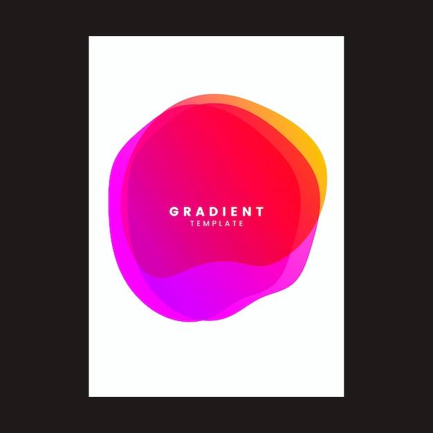 Kleurrijke gradiënt sjabloon posterontwerp