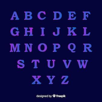 Kleurrijke gradiënt typografie